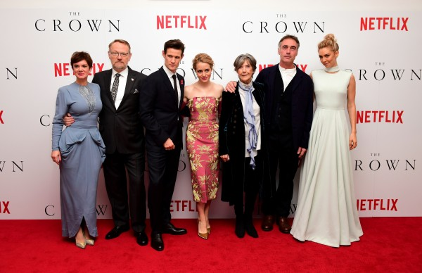 Claire Foy and the cast of The Crown at the show's premier