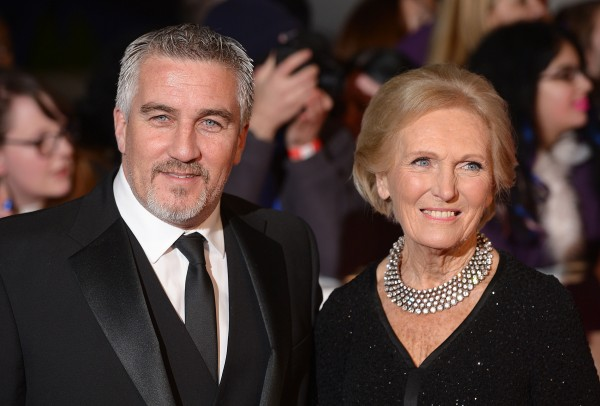 Paul Hollywood and Mary Berry who judged together on The Great British Bake Off on the BBC