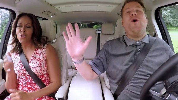 Michelle Obama and James Corden on The Late, Late Show