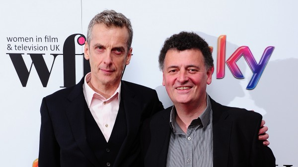 Peter Capaldi with Steven Moffat