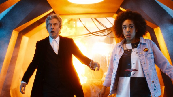 Capaldi with Pearl Mackie as Bill Potts (BBC/PA)