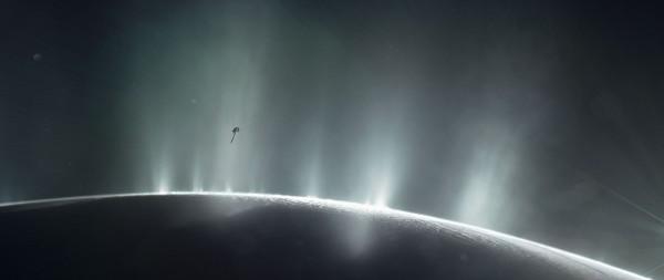 the spaceship goes through the plume (NASA/JPL-Caltech/PA)
