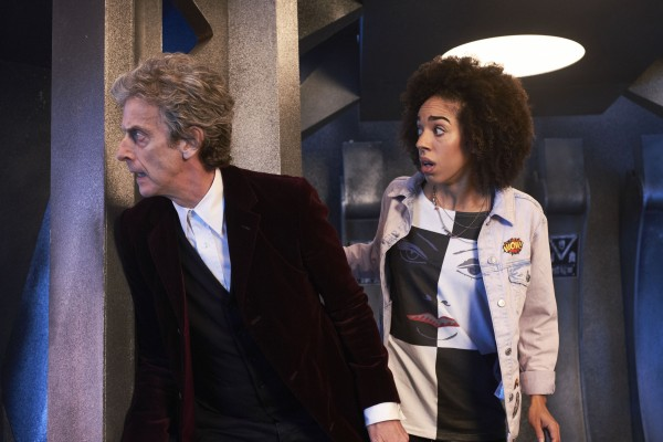 Peter Capaldi and Pearl Mackie in Doctor Who. (BBC)