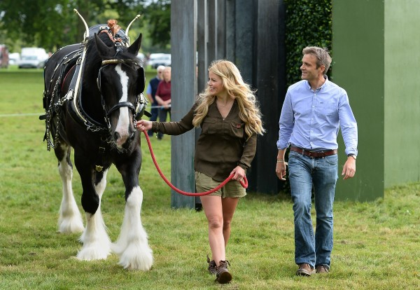 Presenter Ellie Harrison and John Hammond during the photocall to open BBC Countryfile Live at Blenheim Palace in Oxfordshire