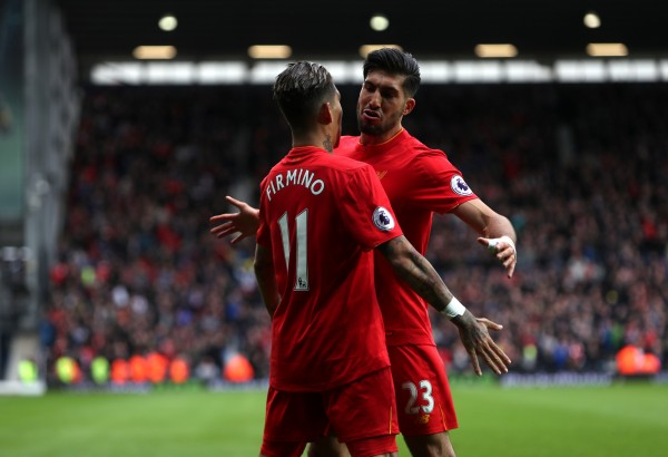 Firmino and Coutinho start for Liverpool at West Bromwich Albion