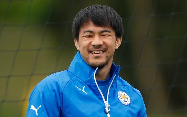 Shinji Okazaki in a Leicester training session