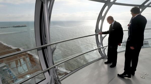 The Duke of Edinburgh on the British Airways i360 attraction