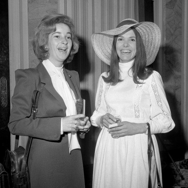 Joan Bakewell (right) with radio presenter Joan Shenton in 1972