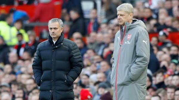 Manchester United manager Jose Mourinho and Arsenal manager Arsene Wenger