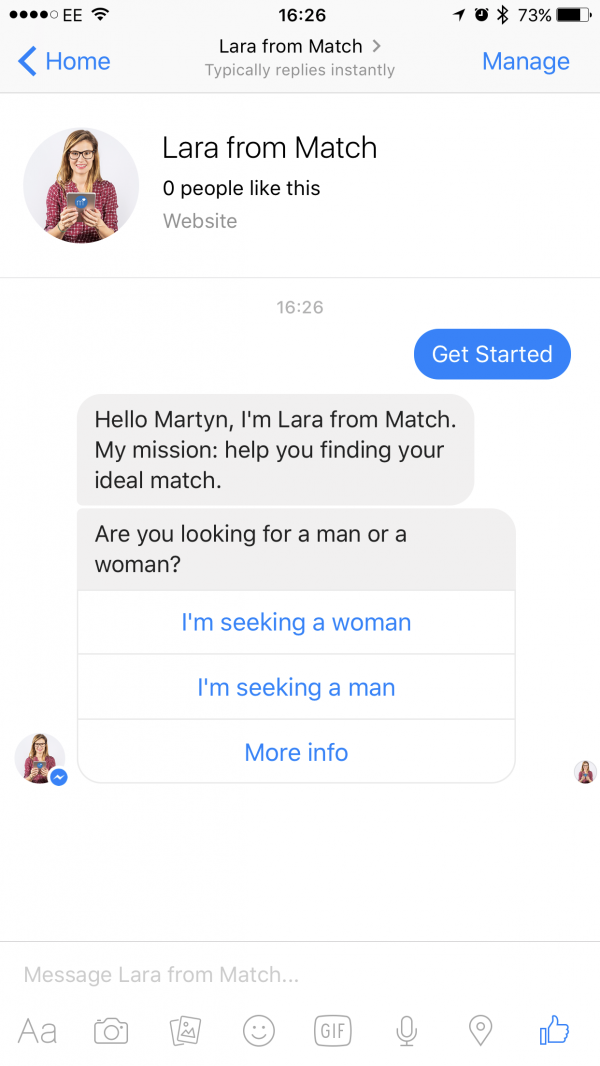 Dating site chat bots