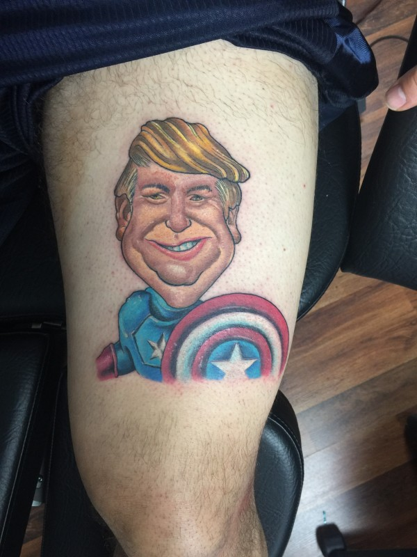 Trump tattoo