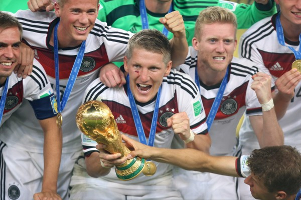 Schwiensteiger with World Cup