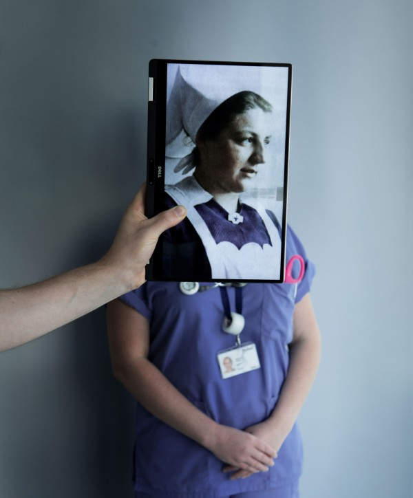 Nurse with image of Victorian equivalent