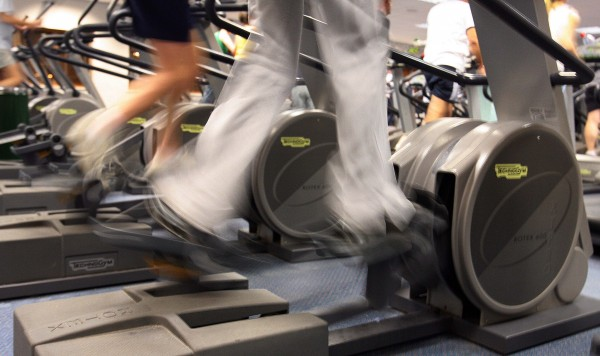 Gym members exercising in a Newcastle gym.