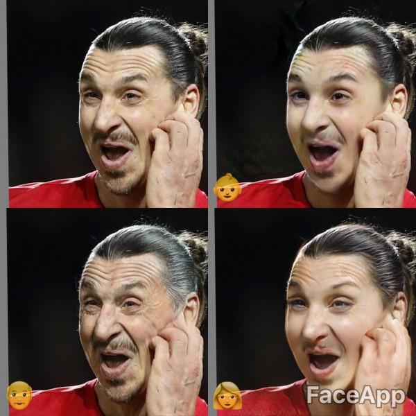 Image result for faceapp images footballer