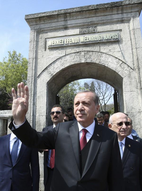 Turkey's President Recep Tayyip Erdogan (Yasin Bulbul/AP)