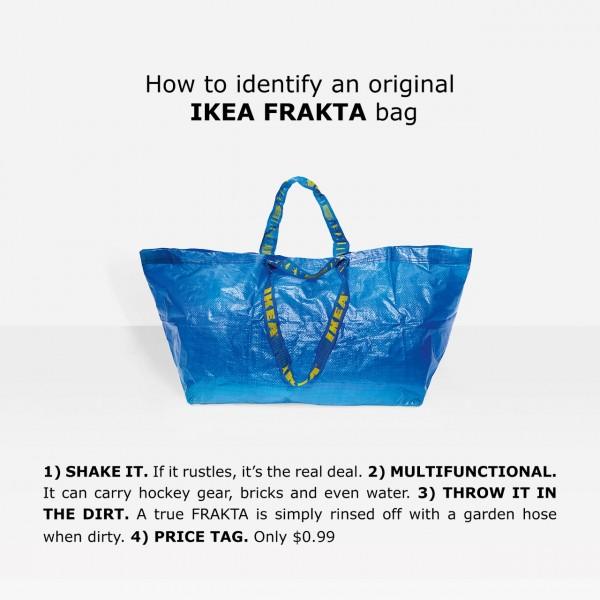 Blue humour: Ikea pokes fun at Balenciaga's new $2150 bag