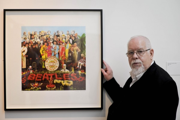 Peter Blake and his album cover masterpiece.