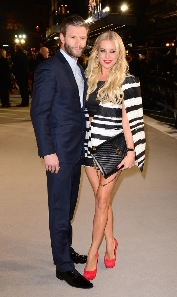 Denise Van Outen and Steve Boxshall ( Dominic Lipinski/PA)