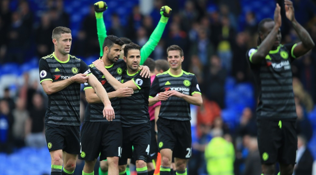 Chelsea inch closer to title with 3-0 win over Everton