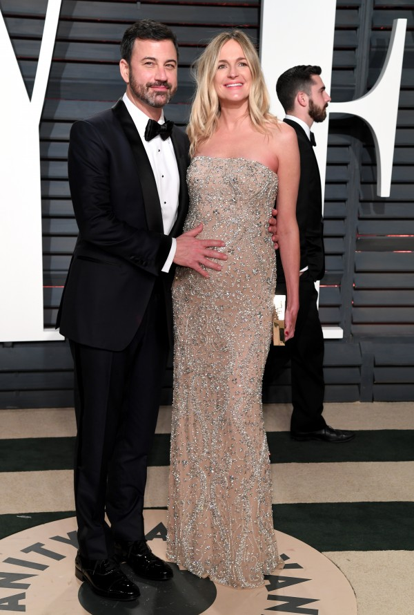 Jimmy Kimmel and his wife Molly (PA Wire/PA)