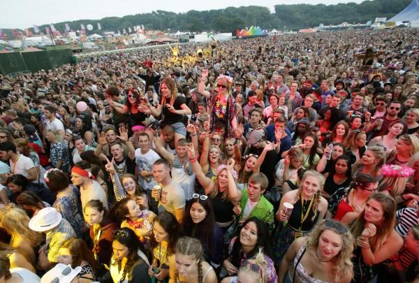 Festival-goers at Bestival music festival
