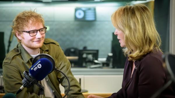 Ed Sheeran and Kirsty Young
