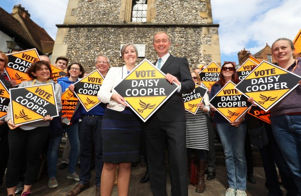 St Albans parliamentary candidate Daisy Cooper (Philip Toscano/PA)