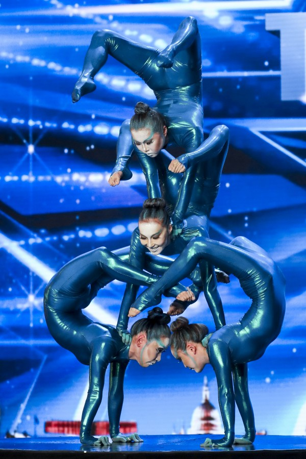 ITV undated handout photo of Angara Contortion during the audition stage for ITV1's talent show, Britain's Got Talent.