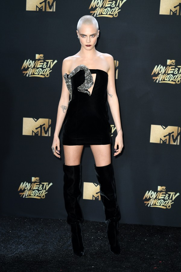Cara Delevingne attending the 2017 MTV Movie and TV Awards (PA)