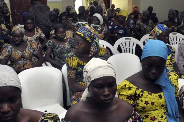 Chibok school girls recently freed from Boko Haram captivity