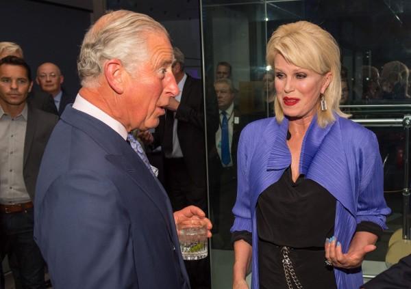 Joanna meeting Prince Charles last year.