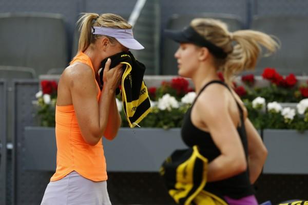 Maria Sharapova and Eugenie Bouchard