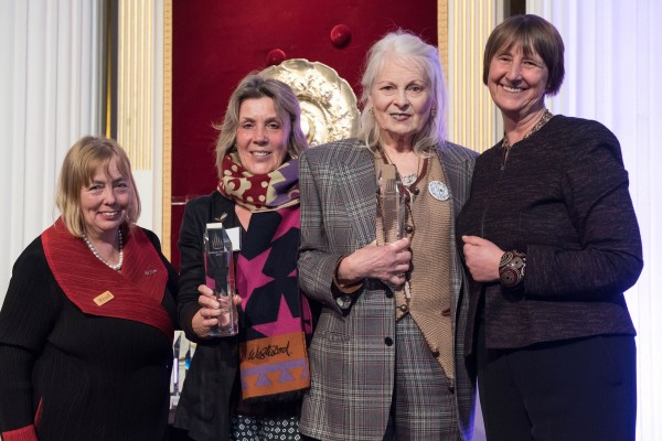 Dame Vivienne accepted the award with Cool Earth at London's Mansion House.