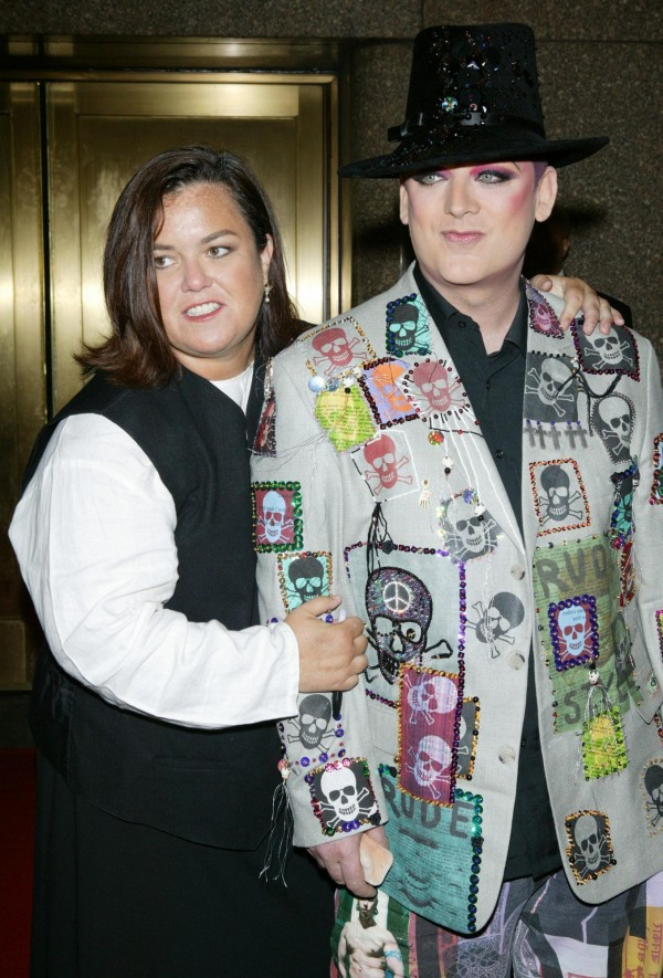Rosie O'Donnell with Boy George in 2004 (Matt Peyton/PA)