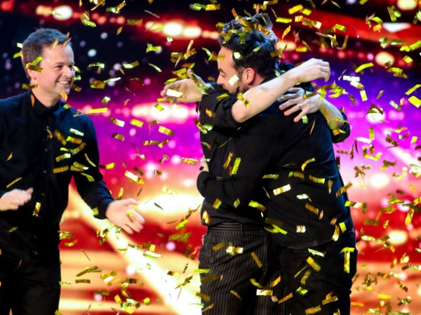 Golden Buzzer hugs for Matt.