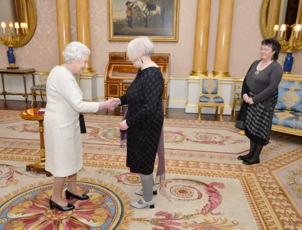 Liz Lochhead receives the Queen's Gold Medal for Poetry