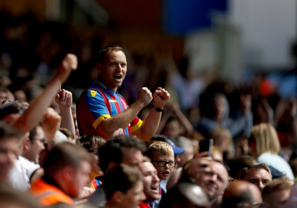 A Palace fan in the stands
