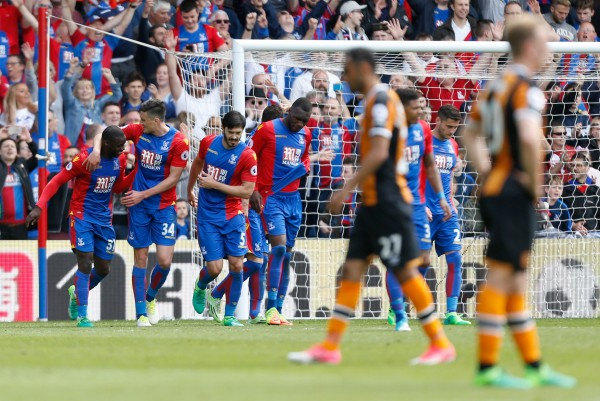 Palace fans celebrate