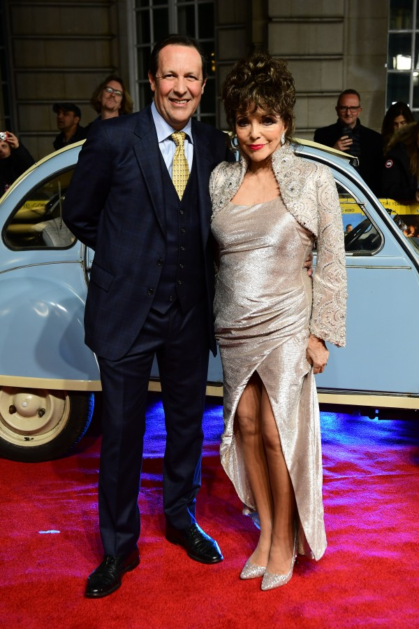 Dame Joan Collins and Percy (Ian West/PA)
