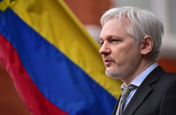 WikiLeaks founder Julian Assange speaking from the balcony of the Ecuadorian Embassy in London where he has been living for more than three years after the country granted him political asylum.