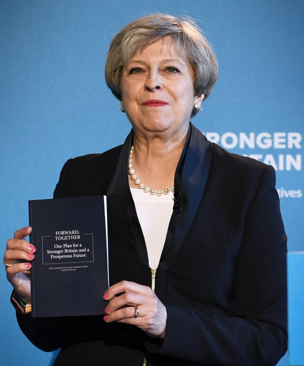 Conservative party leader Theresa May