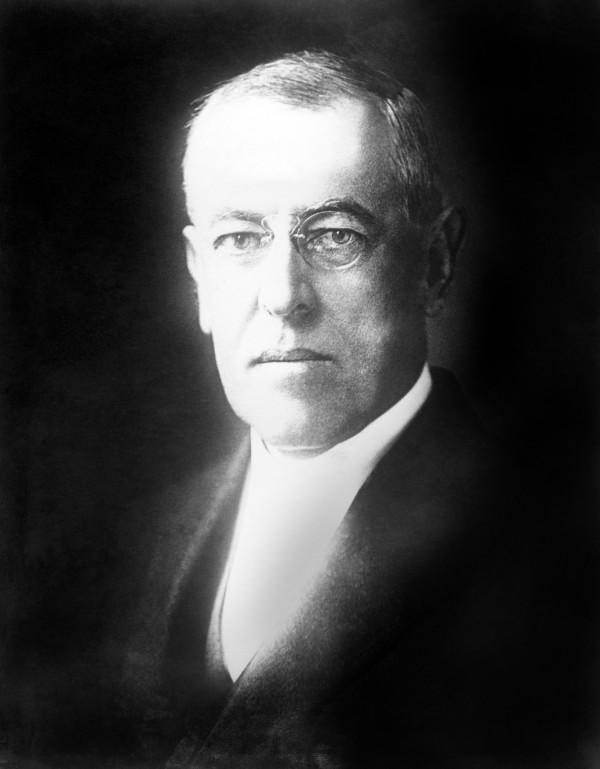 American President Woodrow Wilson in 1918.