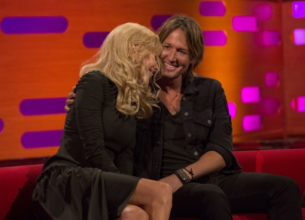 Nicole Kidman and Keith Urban on The Graham Norton Show (Isabel Infantes/PA)