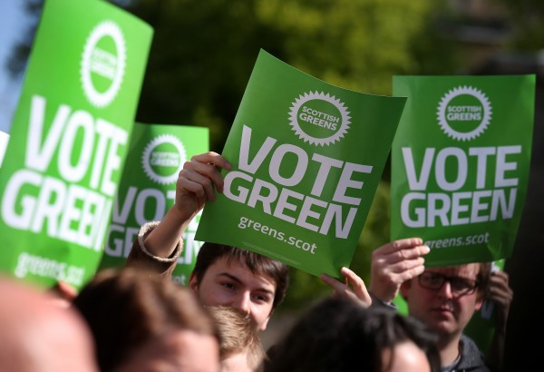 green party supporters (Andrew Milligan/PA)