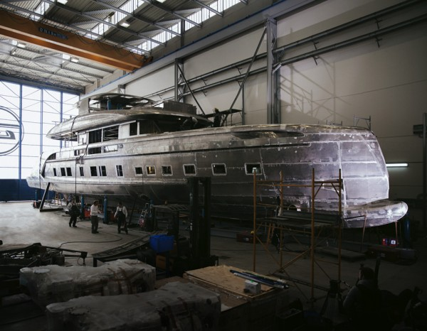 The yachts being built
