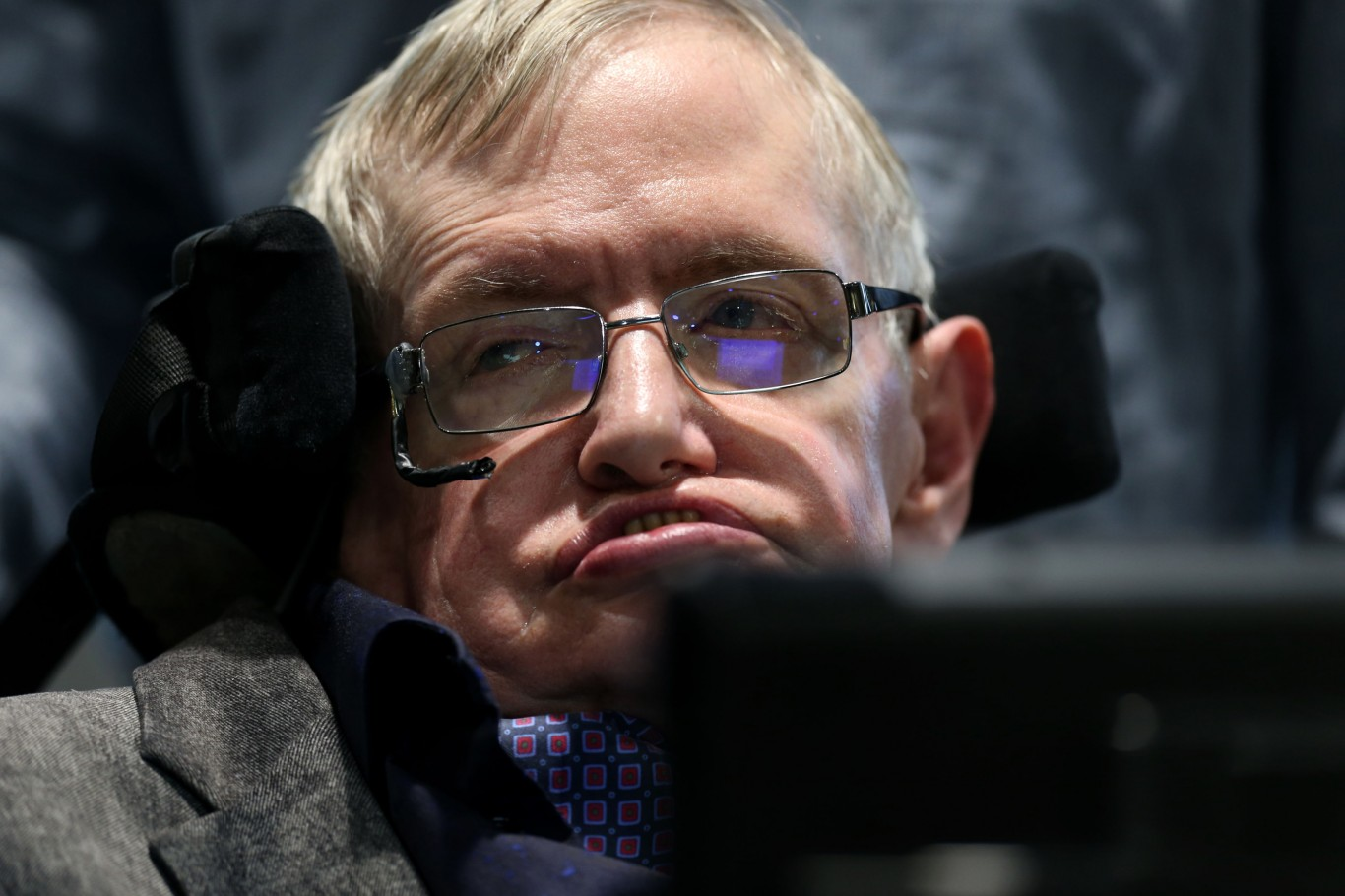 Stephen Hawking speaks during the launch of the Leverhulme Centre for the Future of Intelligence (CFI) in Cambridge.
