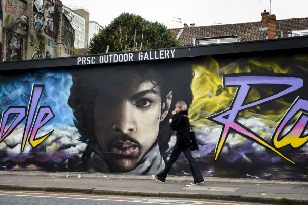 A Prince mural painted last year in Bristol.