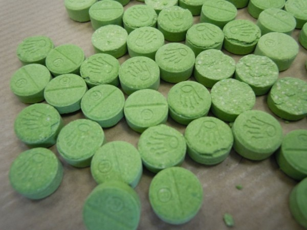 Stock photo issued by Police Scotland of drugs sold as ectasy