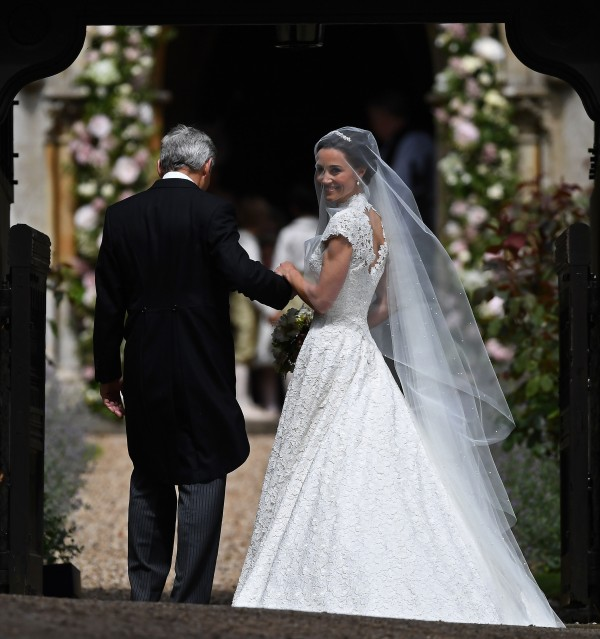 Pippa Middleton arrives at St Mark's Church for her wedding